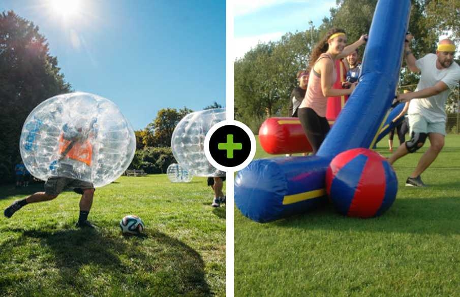 Bubble voetbal - Reuzen Hockey